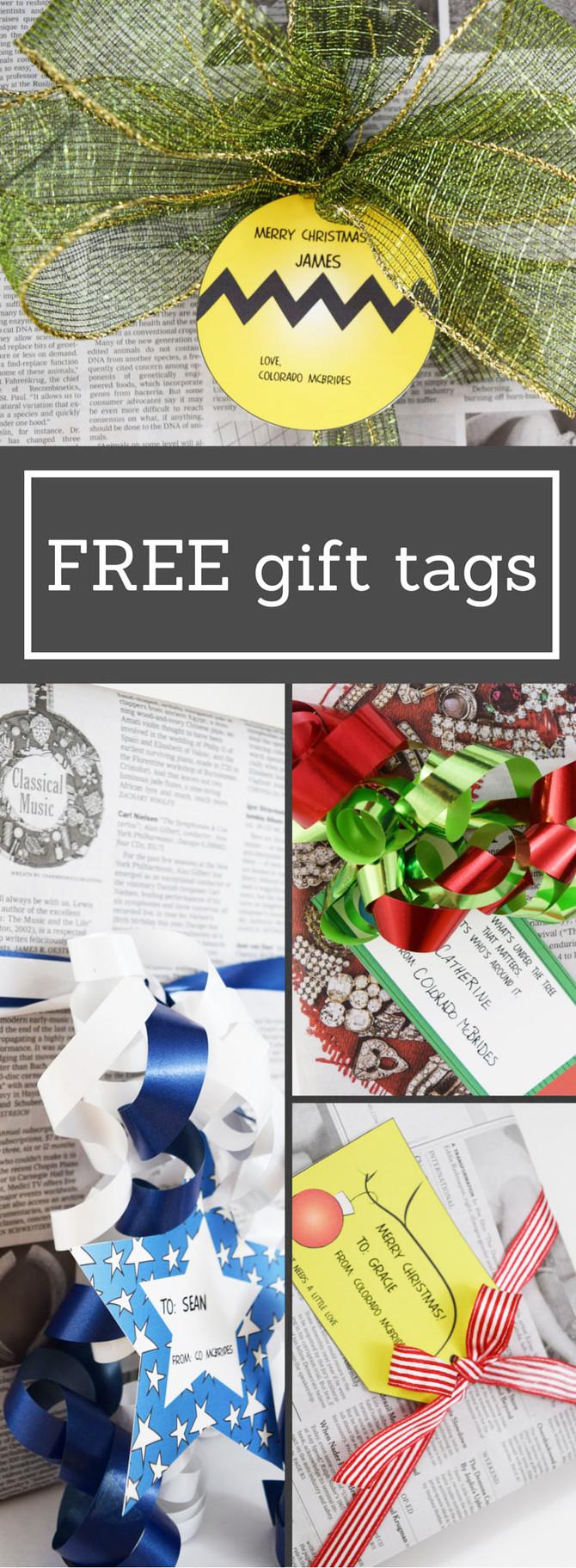 Free Printable Christmas Tags- Charlie Brown Christmas Theme