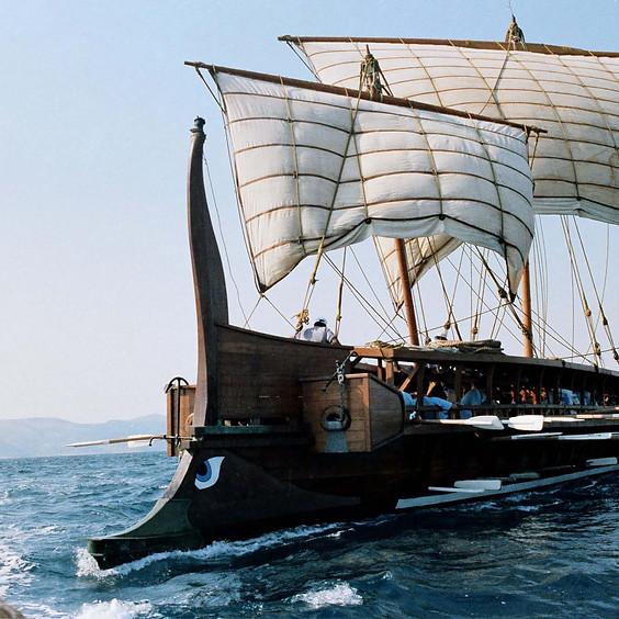H τριήρης «Ολυμπιάς» στον Πειραιά