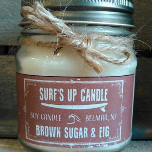 Surf's Up Brown Sugar & Fig Mason Jar Candle