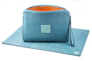 Posh Play Turquoise Diaper Clutch Combo