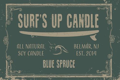 Surf's Up Blue Spruce Mason Jar Candle