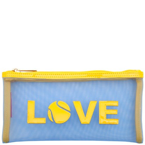 LOLO Blue Mesh Moya Case with Yellow Love Tennis