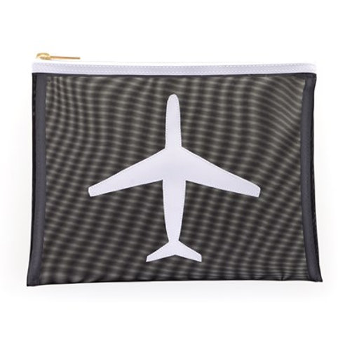LOLO Black Mesh Stanley Case with White Airplane