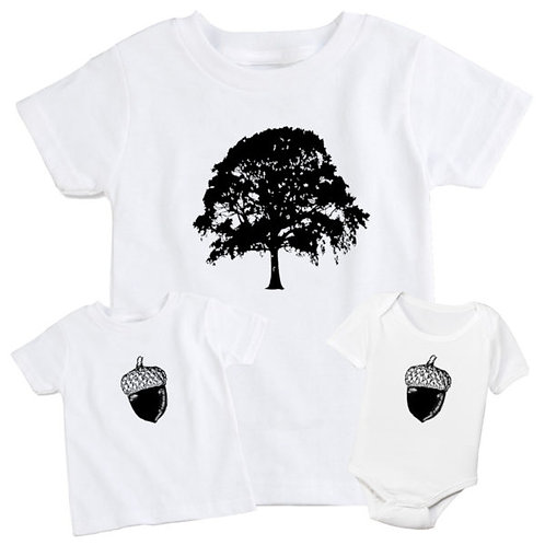 Oak Tree & Acorn Set