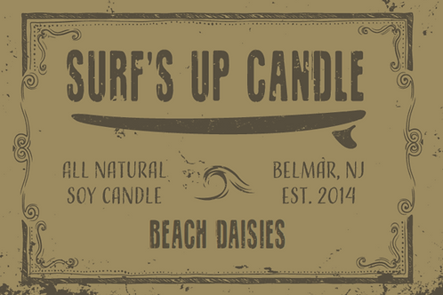 Surf's Up Beach Daisies Mason Jar Candle