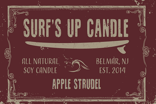 Surf's Up Apple Strudel Mason Jar Candle