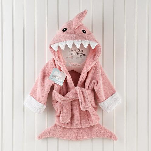 """Let the Fin Begin"" Pink Shark Robe"