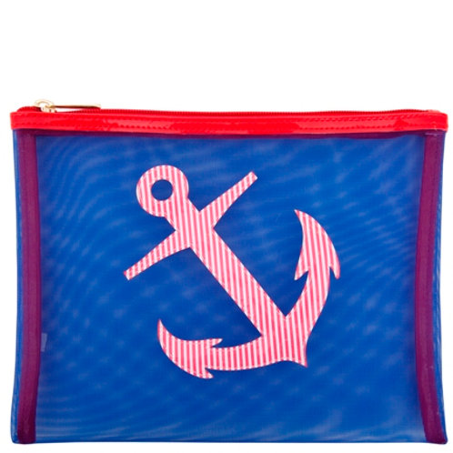 LOLO Navy Mesh Stanley Case with Red Stripe Anchor