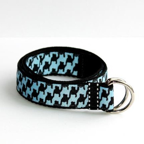 Blue & Black Houndstooth Belt