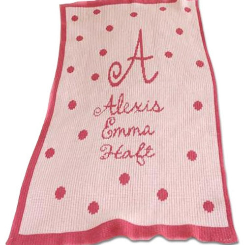 "Personalized Acrylic Full Size Blanket (36""x53"")"