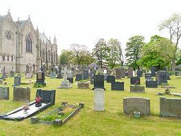Funerals graveyard Christ Church Walshaw Bury