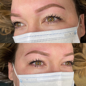 ombre brows - tattooed