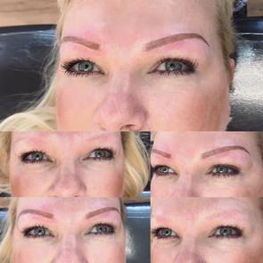 tattooed eyebrows