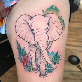 custom elephant tattoo