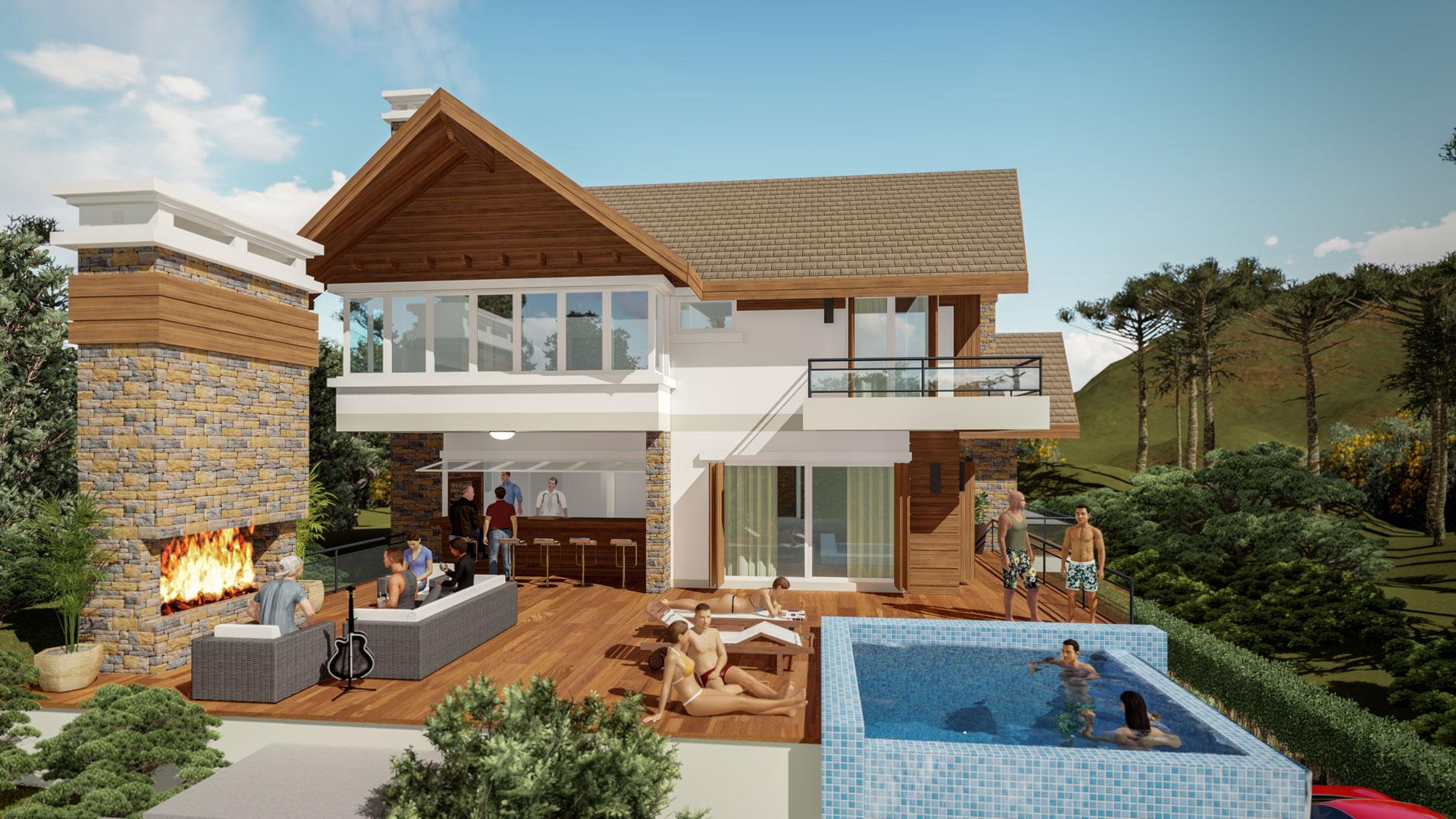 Casa Brusciana-Fachada Nordeste