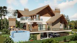 Casa Brusciana-Fachada Norte