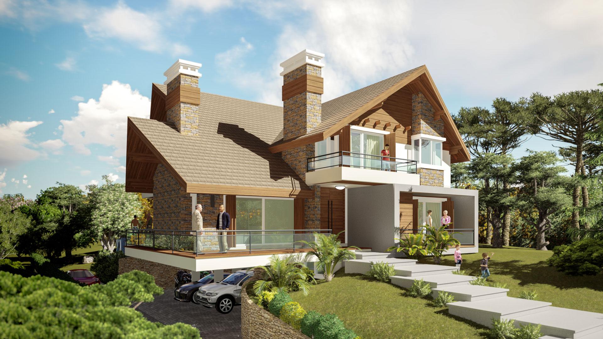 Casa Brusciana-Fachada Oeste