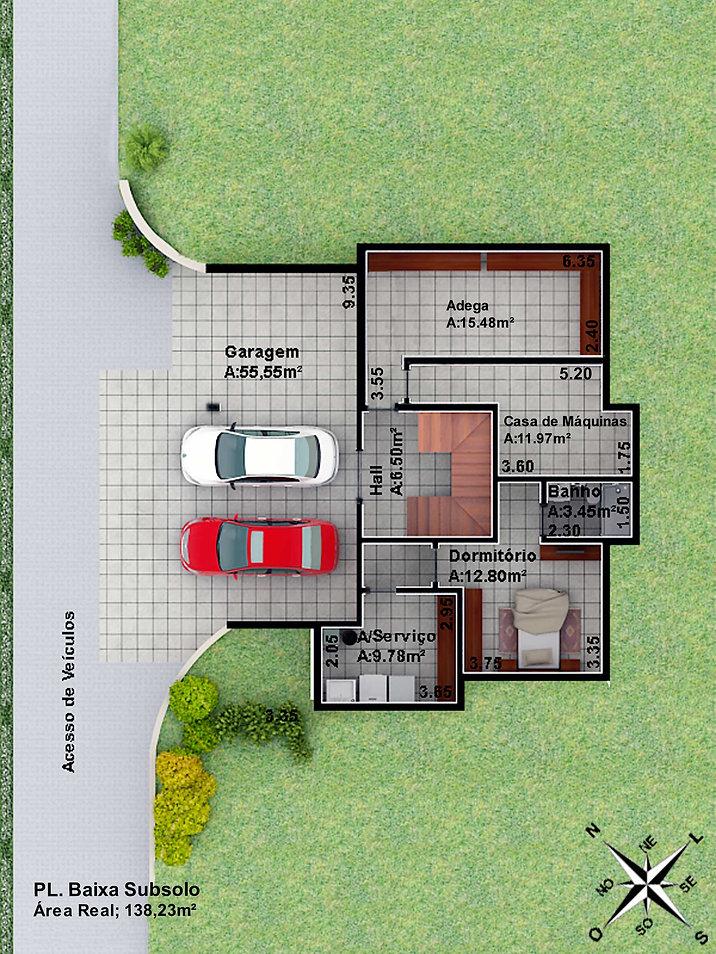 Casa Brusciana - Subsolo - Garagem
