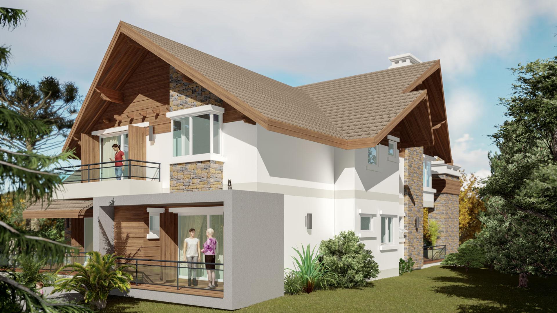 Casa Brusciana-Fachada Sul