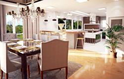 Casa Brusciana - sala e cozinha