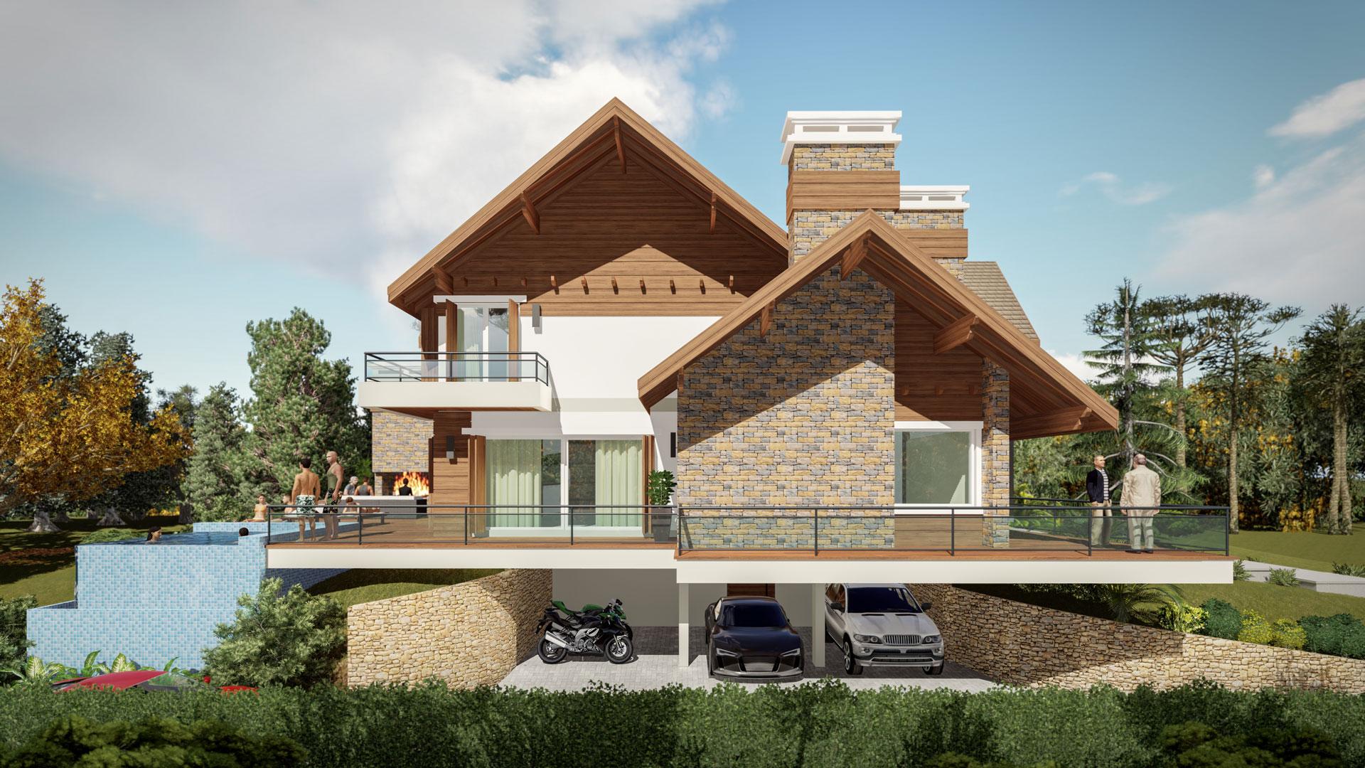 Casa Brusciana-Fachada Noroeste