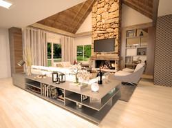 Casa Brusciana -Sala estar/jantar