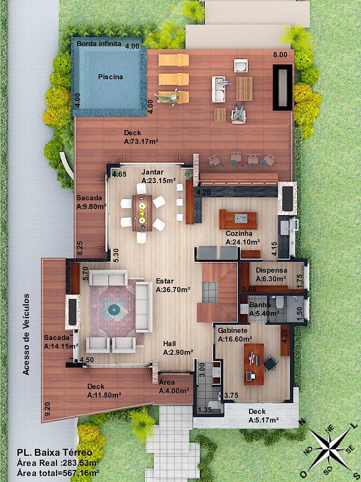 Casa Brusciana - piso térreo