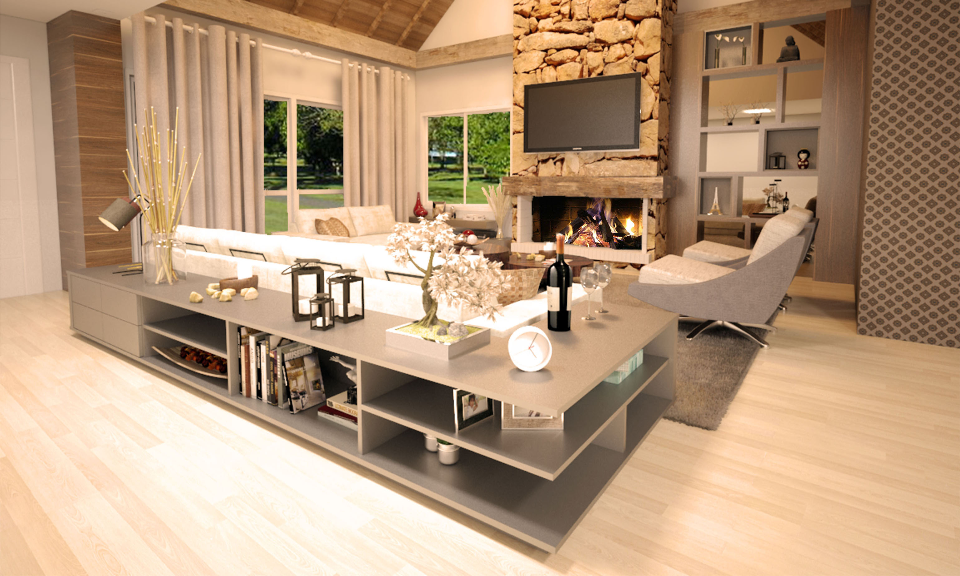 Casa Brusciana -Sala estar-