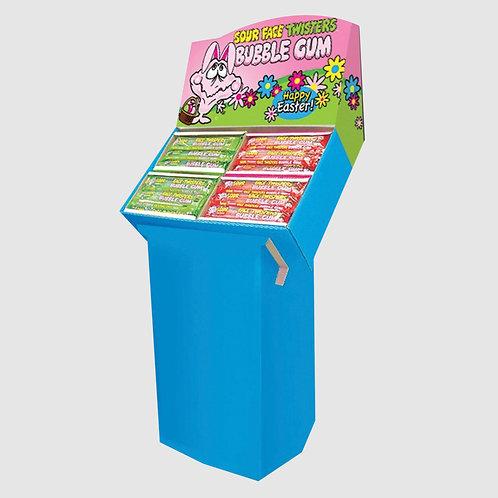 Easter Bubble Gum Straws Floor Shipper