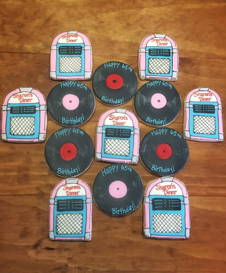 50s Theme Cookies
