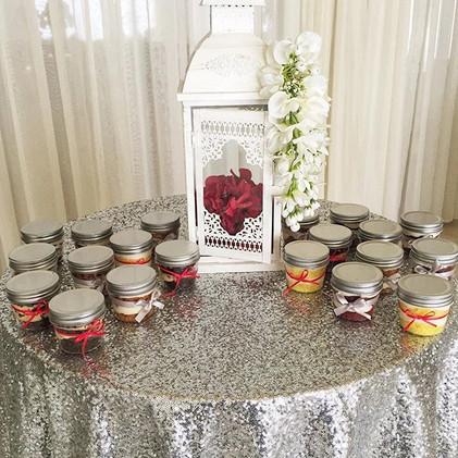 Wedding Cake Jars
