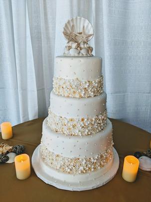 Beach Pearl Theme Cake