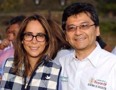 La ministra de Educación, Gina PArody, y el secretario de Educación, Esaú Páez.
