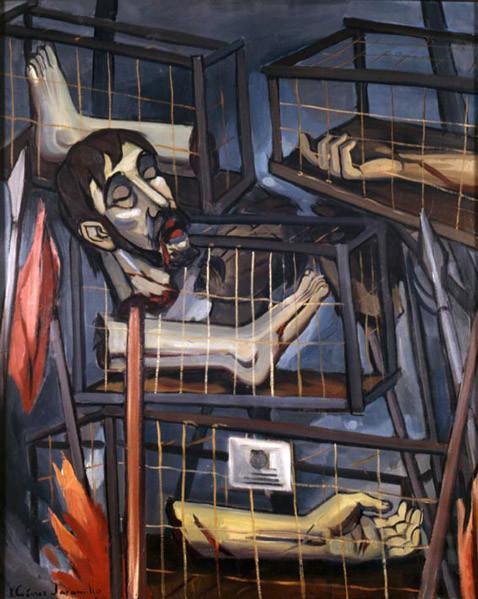 Martirio de Galán, óleo de Ignacio Gómez Jaramillo, 1957. Museo Nacional de Colombia.