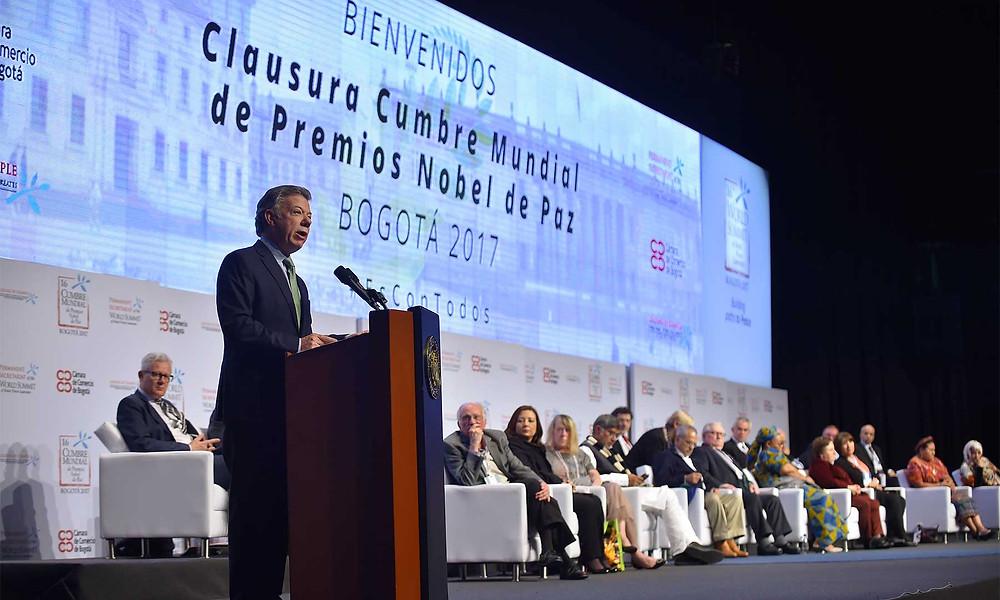 Clausura de la Cumbre Mundial de Premios Nobel. Foto: SIG.