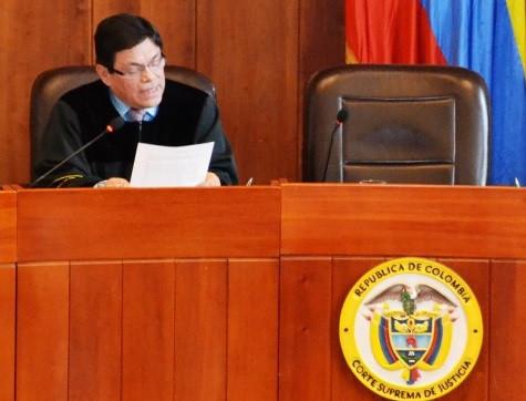 Fallo en audiencia del caso Nule. / Foto: Claudia Fonseca, prensa Corte Suprema de Justicia.