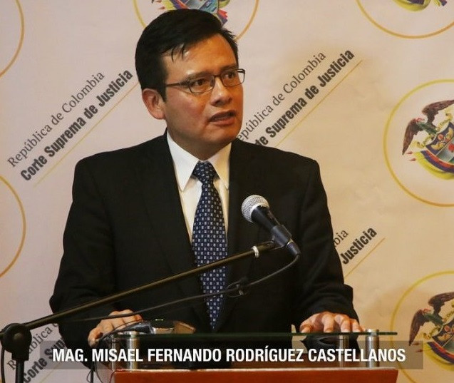 Magistrado Misael Fernando Rodríguez Castellanos. Foto: Prensa, CSJ.