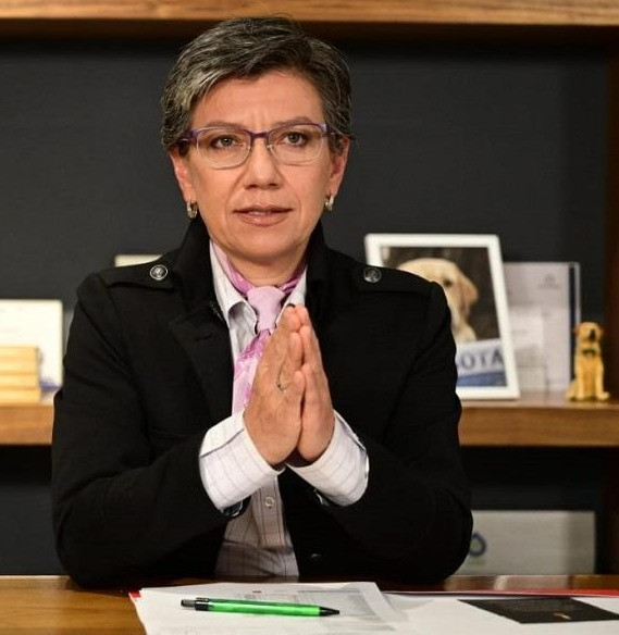 Claudia López, alcaldesa de Bogotá DC.