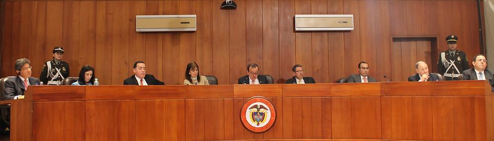 Los magistrados y jueces le exigen al Gobierno nacional herramientas para afrontar la nueva jurisdicción para la paz. / Foto: Corte Constitucional