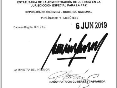 Presidente Duque sanciona Ley Estatutaria de la JEP