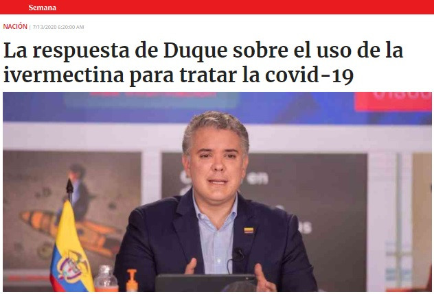 Presidente Iván Duque, Ivermectina