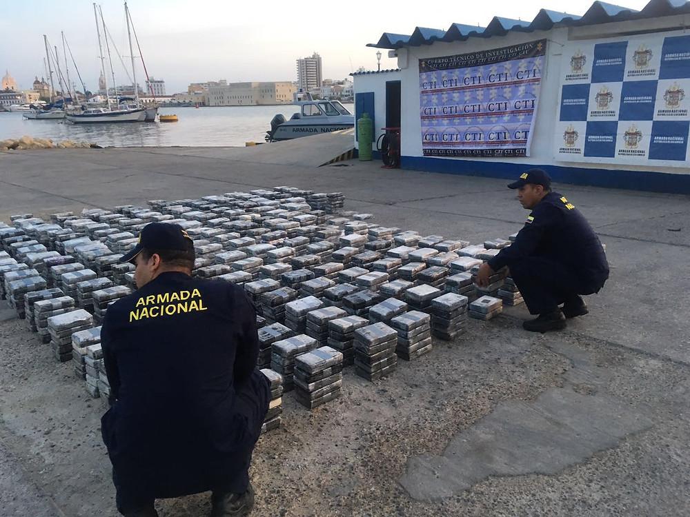Cocaína incautada durante la operación. /Foto: Prensa ARC