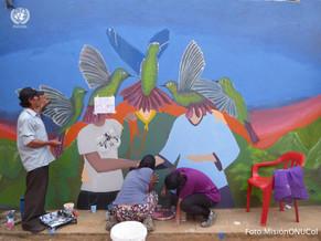 'Pinta tu voz': Minga muralista