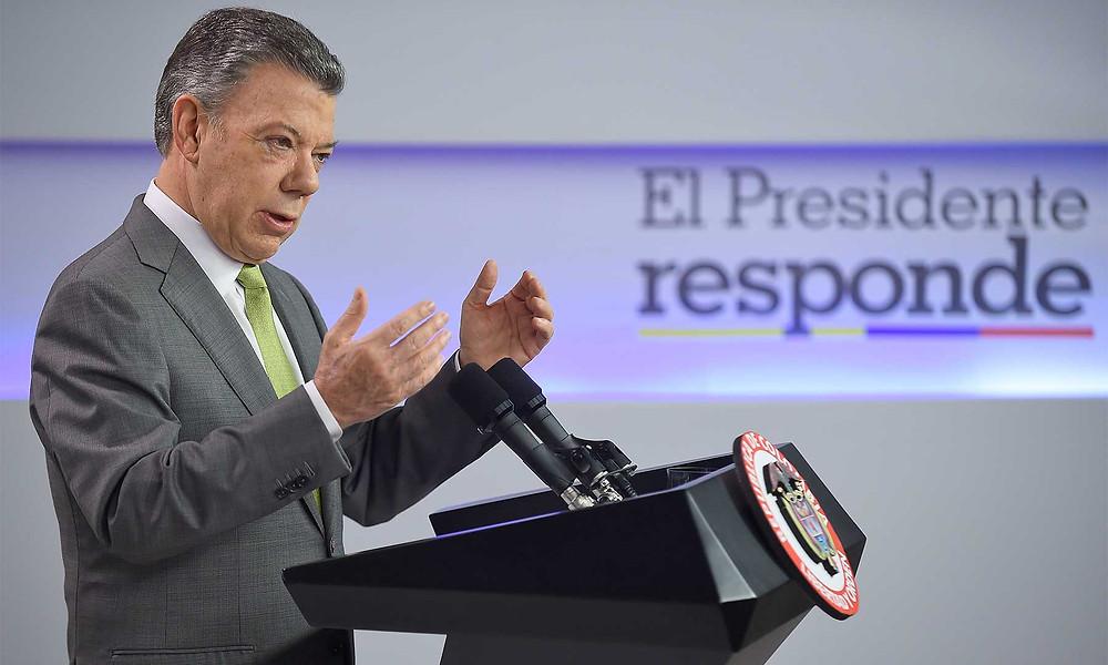 Presidente Juan Manuel Santos. / Foto: Efraín Herrera, SIG.