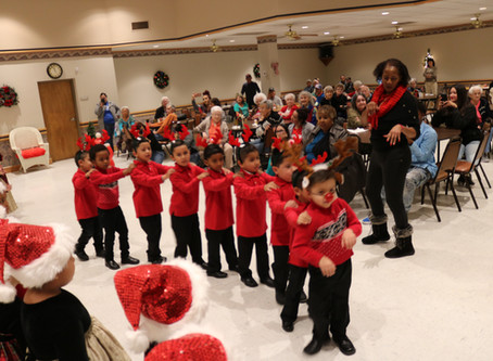 "Headstart ""Sleighs"" at Senior Center!"