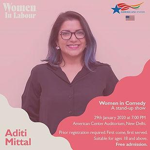 Aditi Mittal is a stand-up comedian, wri