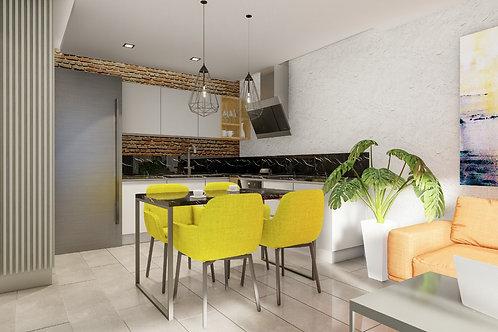 Квартира 2+1 The cozy rezidance в Махмутлар- 201230