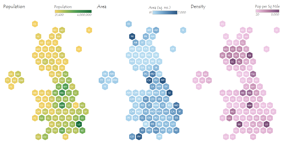 Maps In Tableau Part 1 Uk Hex Tile Map Data Analysis