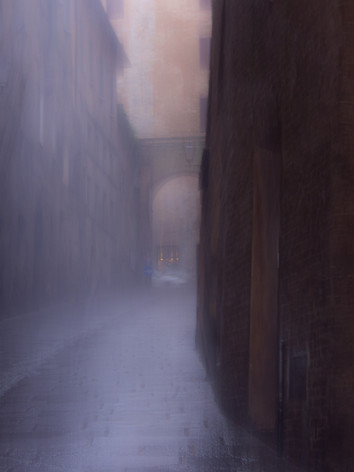 Downpour in Sienna, Italy