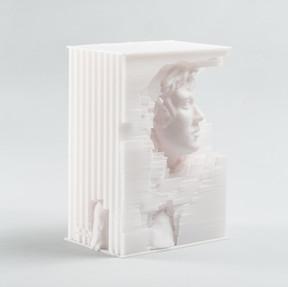 Digital, sculpted 3D-printed PLA